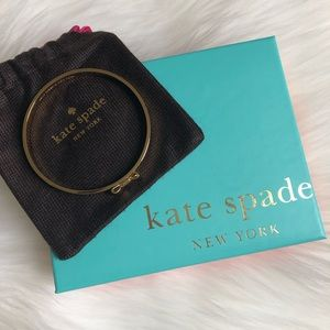 Kate Spade Take a Bow Yellow Gold Bangle NEW